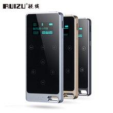 RUIZU X05 Metal HIFI Reproductor de MP3 con 8 GB De Almacenamiento y Botón de la pantalla Táctil Juego 100 h Sin Pérdida de Calidad de Sonido Mp3 Del Deporte Walkman
