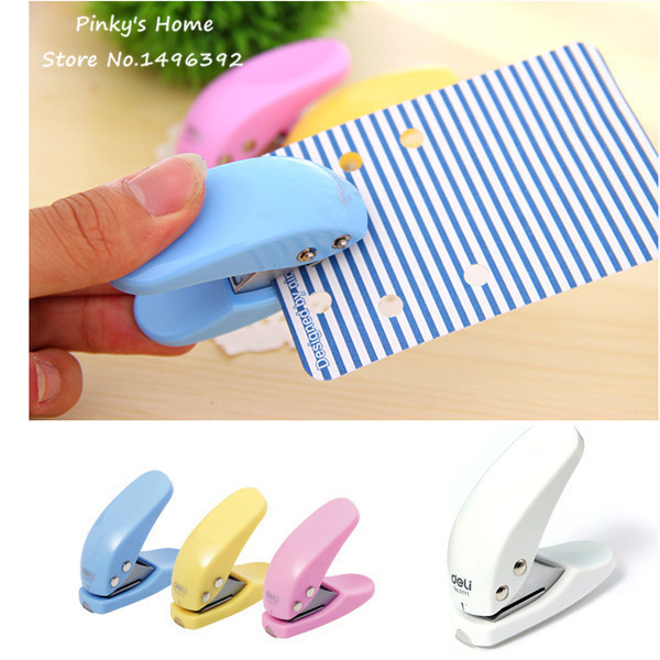 1pc DIY Mini Card Paper Punch Craft Circle Pattern Scrapbooking Puncher Hole Kid Student Office Stationery Hand Hole Punch