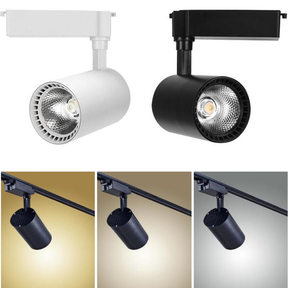 Track Lighting Symbol Of The Brand Gu10 Led Track Light Clothing Shop Windows Showrooms Exhibition Spotlight Cob Led Ceiling Rail Spot Lamp Modern Collection Light