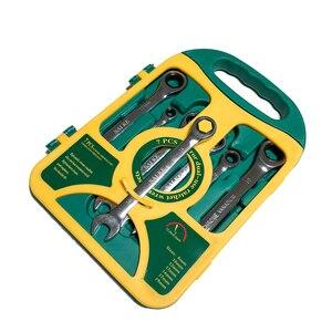 Image 2 - 7PieceS/set  Ratchet Wrench Set hand wrench Hand Tools Metric Ratchet Wrench Set 8 19mm A Set of Key