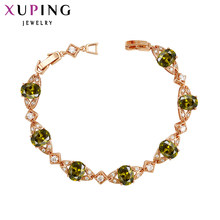 Xuping Luxury Bracelets 2017 New Arrival Colorful Butterfly Style With Synthetic CZ Ladies Jewelry 73600(China)