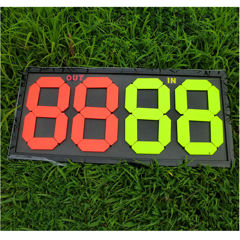 Gojoy Soccer Substitute Board 2 Sides Football Substitution Players Plate Sports Coaching Wholesale