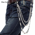 "Men's Silver Metal Three Strands Hip-hop Waist Chain Multi Key Wallet Chain Punk Trousers Jeans Chain-26"" KB01"