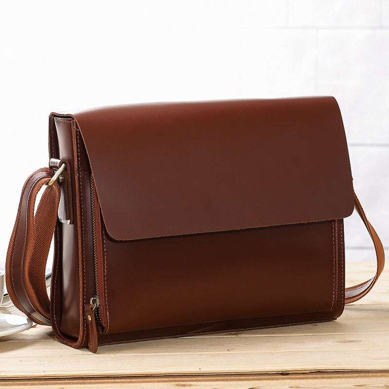 TIANHOO Genuine leather men bags vintage cow leather flap PAD & smartphone pocket fashion British style oil cowhide bagsTIANHOO Genuine leather men bags vintage cow leather flap PAD & smartphone pocket fashion British style oil cowhide bags