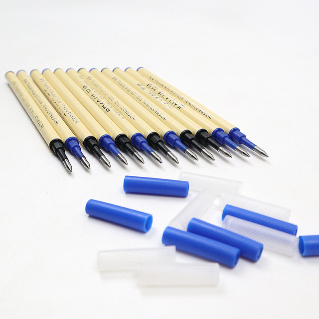6Pcs High Quality 0.5mm Nib Ballpoint Pen Refills 11cm Length Writing Point Blue Black Ink Ball Pen Refills Rods 4