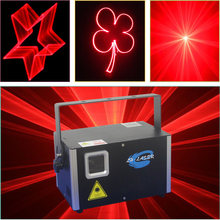 2000mW single Red Color DMX ILDA Animation Laser show projector DJ Disco +ishow program in sd card(China)