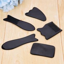 5PCS Facial Massage Face Neck Natural Horns Health Care Body Gua Sha Scraping Board Beauty Tool Set For Acupuncture Therapy 44