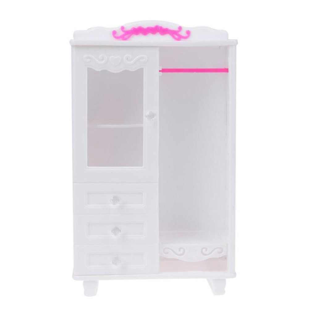 Girls Dressing Table Dollhouse Furniture Girls Children Cosmetics Toy Dressing Table Sets Accessories Pink White Doll Make Up Toy Christmas Girl Gift