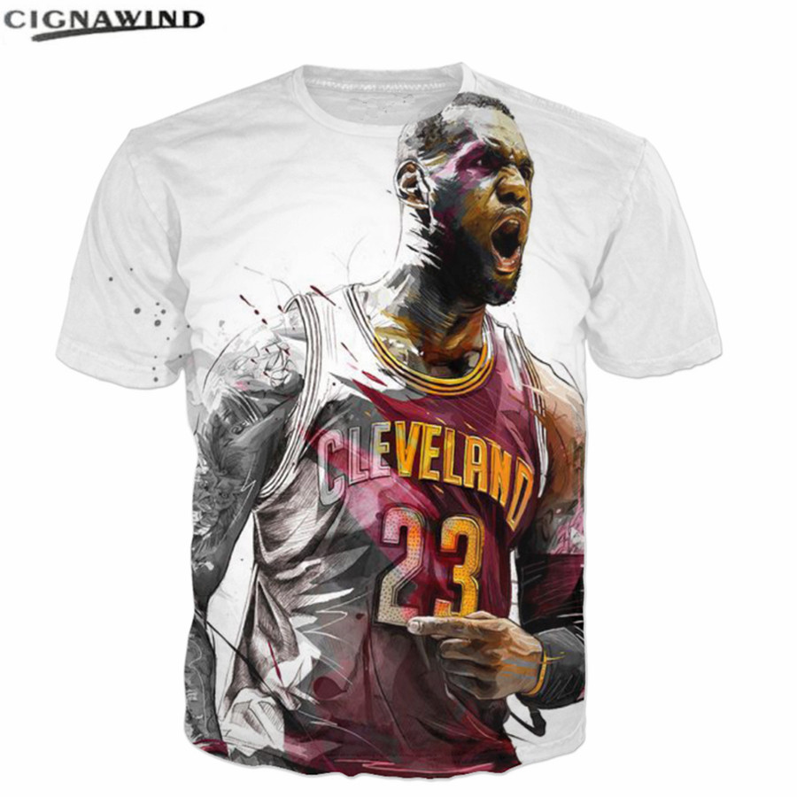 the best attitude 2a21d 61dd5 US $9.23 34% OFF|New hip hop T shirts Men Women Lebron James 3D Printed t  shirt Casual short sleev tshirt streetwear Summer top Unisex tee shirts-in  ...