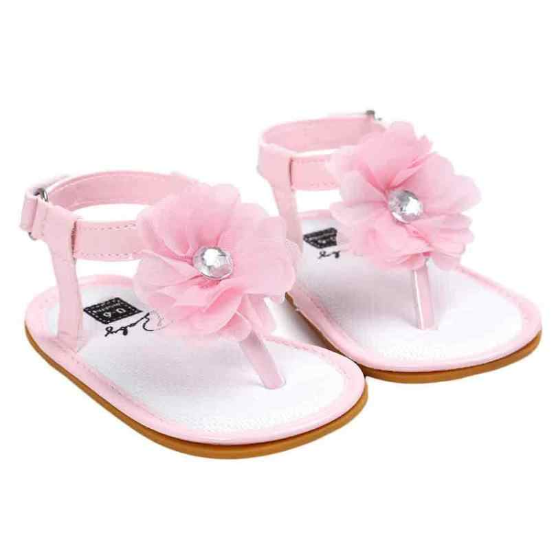 6f115b0951c ... Baby Flower Pearl Sandals Toddler Princess Girls Kid Shoes UK F7 ...