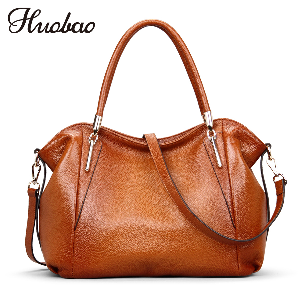 Women Bag 2018 Ladies Genuine Leather Handbags 100% Cowhide Shoulder Bags Brand Designer Luxury Women Messenger Bag Vintage Tote laorentou cowhide leather shoulder bag ladies leather luxury handbags women bags designer ladies shoulder bag casual tote