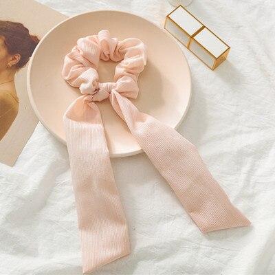 Модный летний шарф «конский хвост», эластичная лента для волос для женщин, бантики для волос, резинки для волос, резинки для волос с цветочным принтом, ленты для волос - Цвет: 08