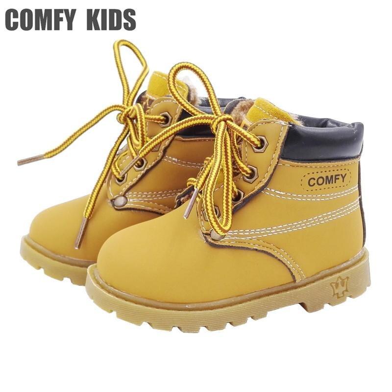 Удобные детские кроссовки Ботинки Детская мода повседневные кроссовки для мальчиков и девочек кожаные ботинки обувь Детская осенние сапог... ...
