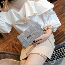 2018 Hottest Women Shoulder Bag Luxury Handbag Famous Brand Plaid Lattice Designer Chains Crossbody Bags for