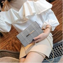 2018 Hottest Women Shoulder Bag Luxury Handbag Famous Brand Women Plaid Lattice Handbag Designer Chains Crossbody Bags for Women