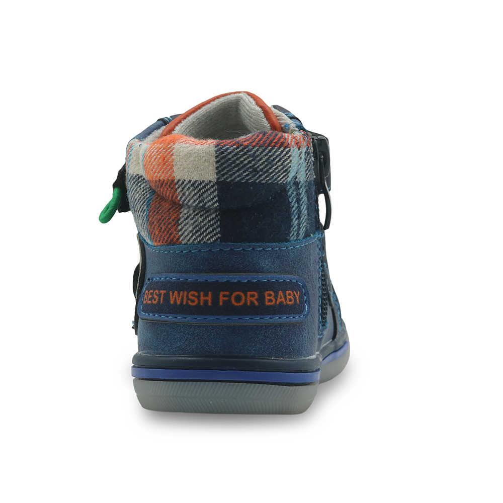 Botines de otoño Apakowa para niños, botas Martin para niños pequeños, botas de moda con gancho y lazo con soporte para arco