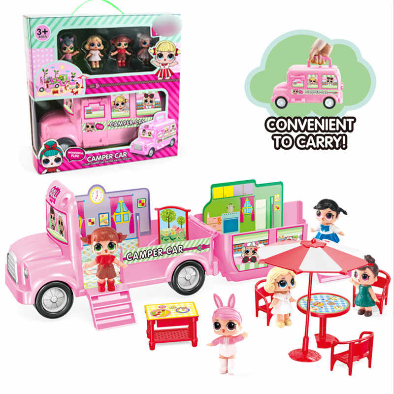 A set Surprise doll Toy Decoration Princess Doll Park House Game Big Slide Playset Decor  Surprise Doll Toys for child Gift