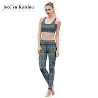 Women Yoga Bra Pants Set Sport Suit Fitness Running Tights Quick Drying Compression trousers Sets Gym Slim Legging Workout Set