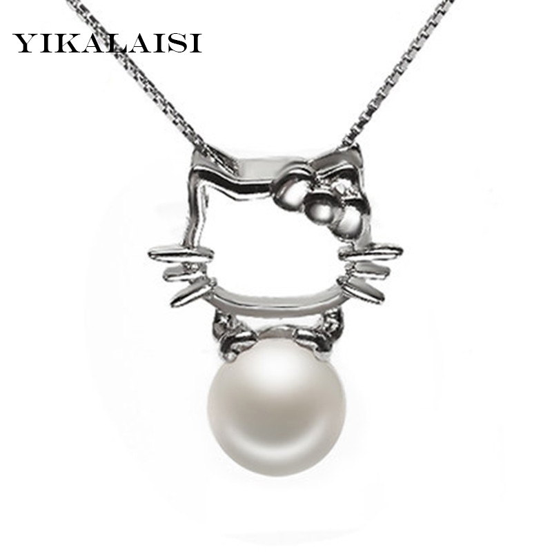 2017 Necklace Pearl Jewelry Natural Pearl 925 Sterling Silver jewelry Necklace Pendants For Women Gift