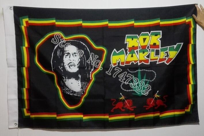 Bob Marley One Love Rastafari Pancarta 3/' X 2/' Bandera