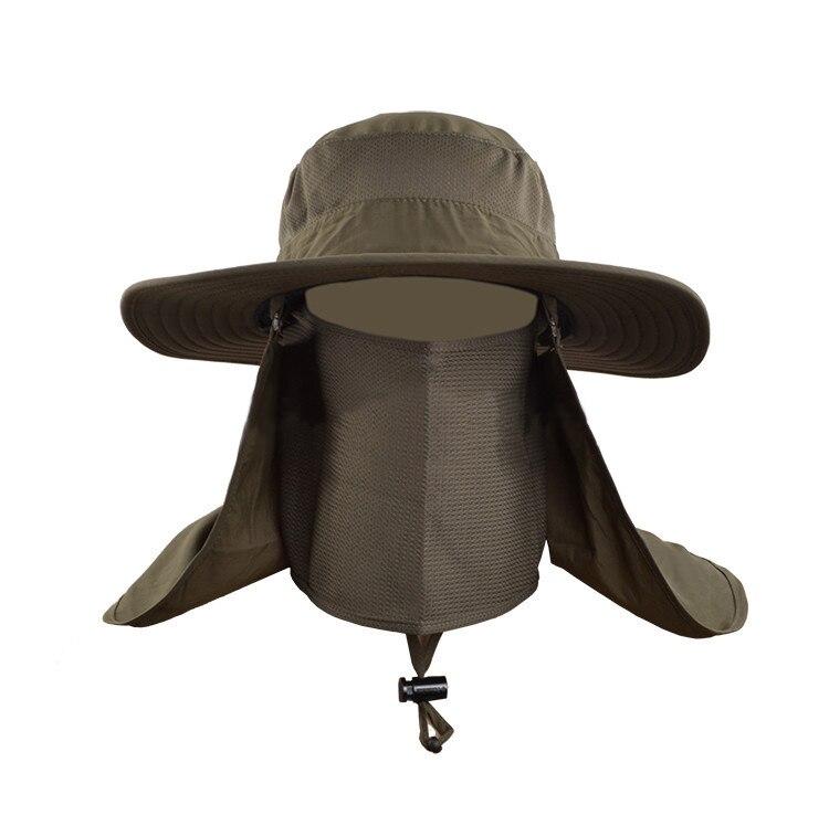 Outdoor Fishing Hats Men Waterproof Face Hiding Sun Hats For City Women Men Fisherman  Hat Climbing Wide Brim Bucket Hats V1739-in Bucket Hats from Apparel ... 6d385a50d32