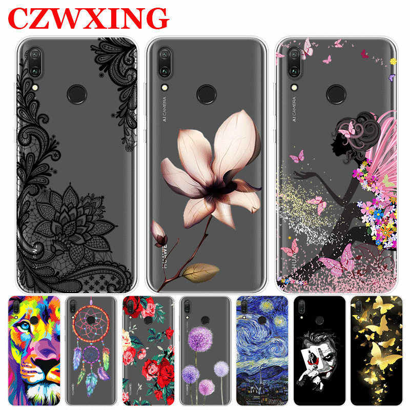 Huawei Y6 2019 Case Silicone TPU Soft Phone Case For Huawei Y6 2019 MRD-LX1 MRD-LX1F Y 6 Prime Y6Prime Case Back Cover 6.09 inch
