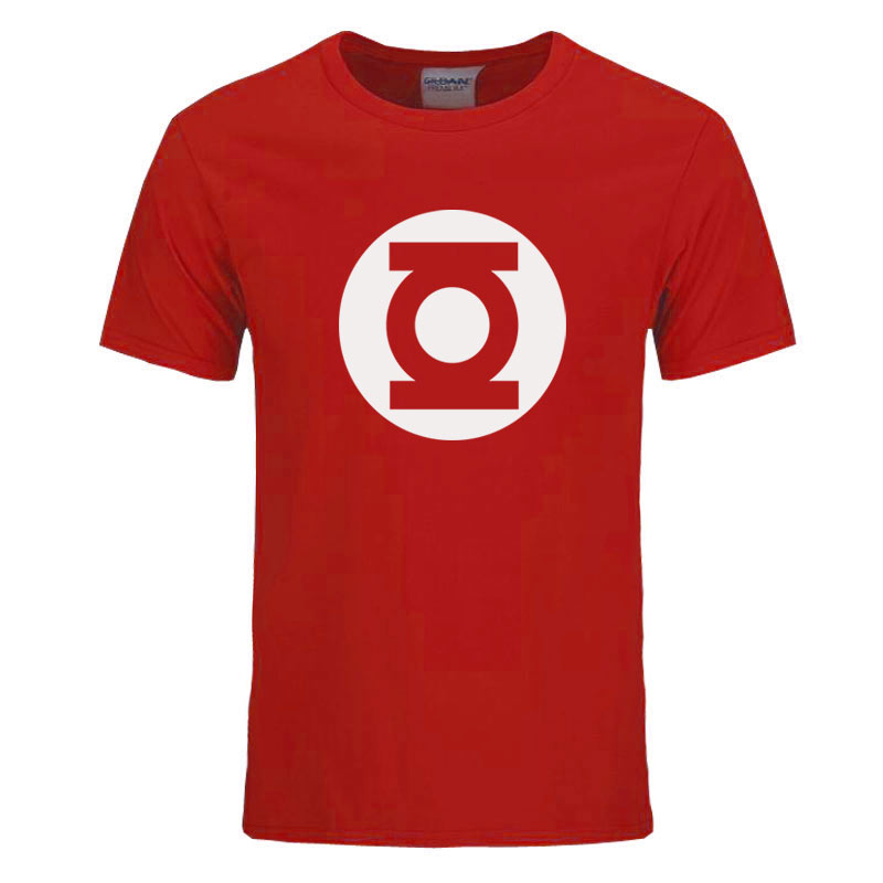 2017 New Green Lantern t shirt Men The Big Bang Theory T-shirt Top Quality Cotton Sheldon Cooper Super heroT Shirts Men