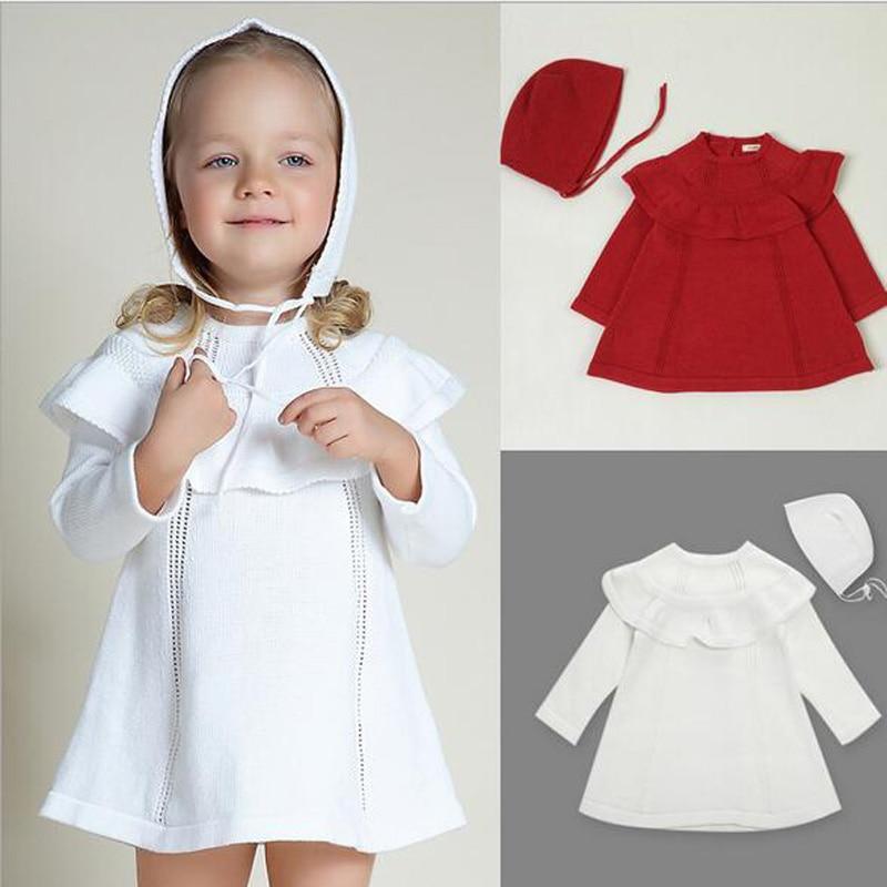4420bb4ef584 New 2016 Spring Baby Dress Autumn Girl Princess Sweater Dress ...