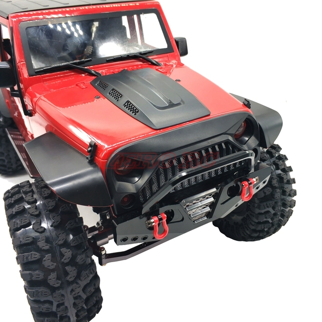 1 10 rc car axial scx10 aluminum front bumper bull nose with