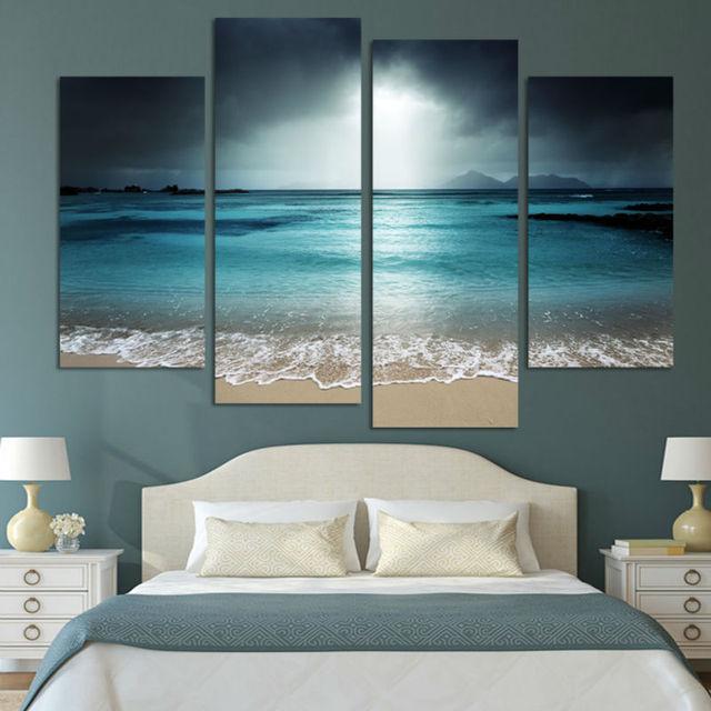 HD Stampa Moderni Casa Decor Paesaggio Seascape Mare Pittura Della ...