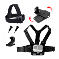 Chest Belt Head Belt 360 Clamp mount For Gopro Hero 5 Action Camera Accessories Set For Go pro Style Helmet Harness Sj4000