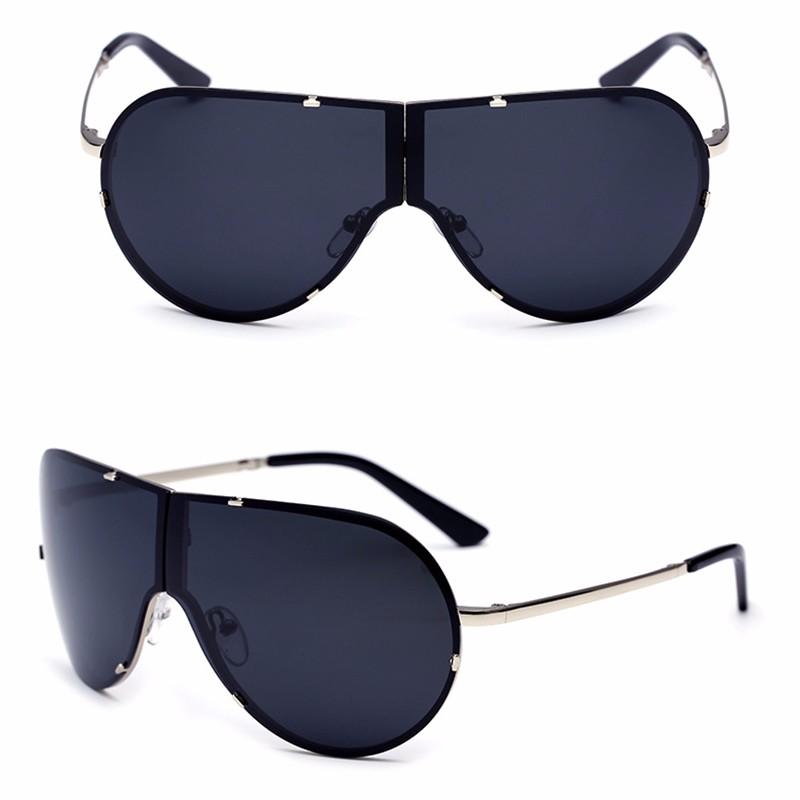 Lager Motorcycle Sunglassses Men Women Oversize Frameless Sunglasses Foldable Glasses Big Moto Goggles 8487 (5)