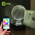 CNHIDEE Creative USB Music Lamp NBA Basketball Shaped 3D Led Night Light as Bedroom Besides Night Lampara with Bluetooth Speaker