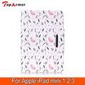 TopArmor mini 2 mini 3 Tablet Cover 7.9 дюймов Кожаный Печатных краска Цветы Pattern Кошелек Красочные для Apple iPad mini 3 Случае