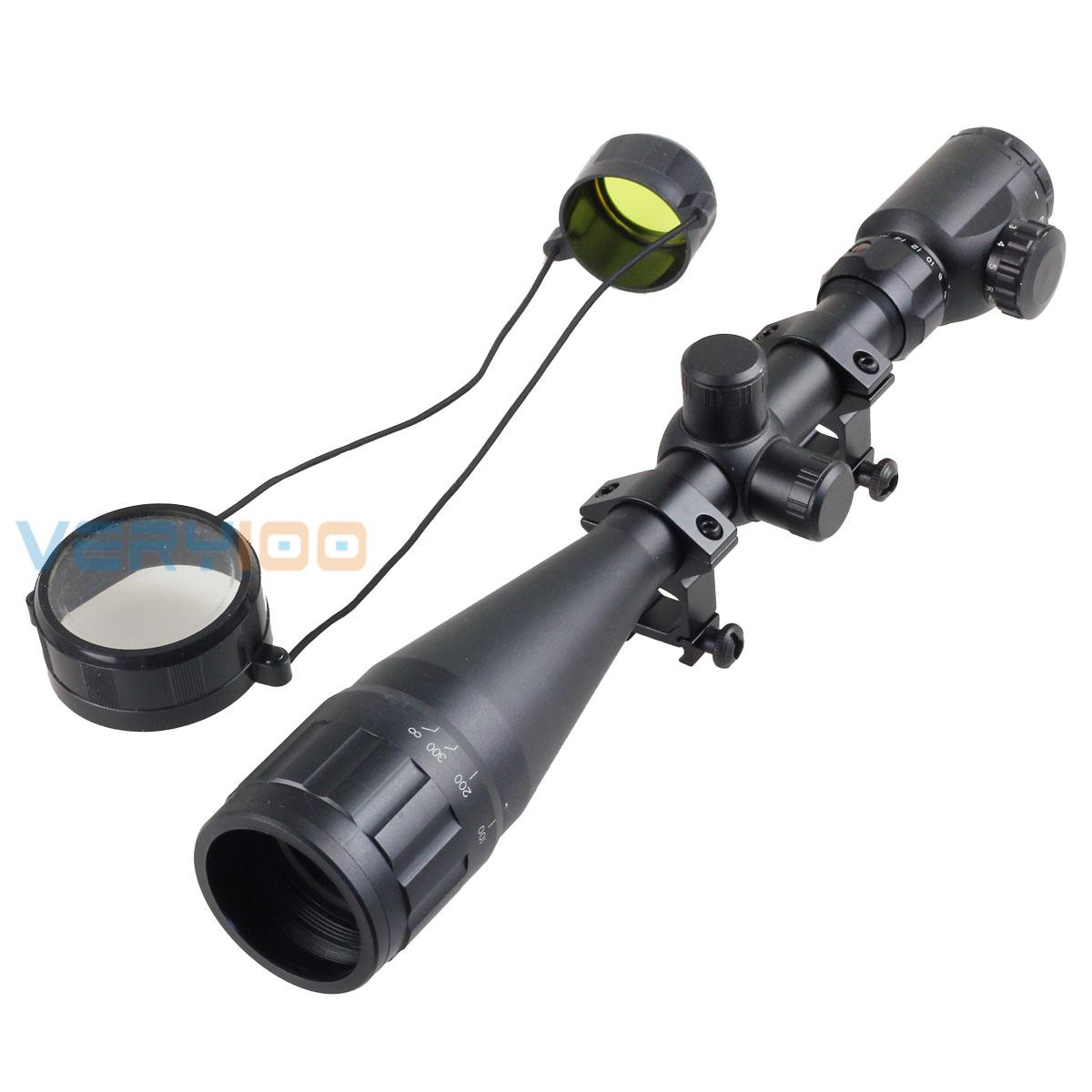 6-24x50 Aoe Red Green Mil-dot Illuminated Optics Air Rifle Hunting Laser Scope Sight Riflescope Free Shipping hunting green dot illuminated laser tactical optics sight rifle airsoft air guns scopes sight green dot rifle scope laser