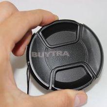 Черная крышка объектива 67 мм с центральным зажимом защелкивающаяся передняя крышка объектива для Canon Nikon sony Объектив с анти-теряющим шнуром