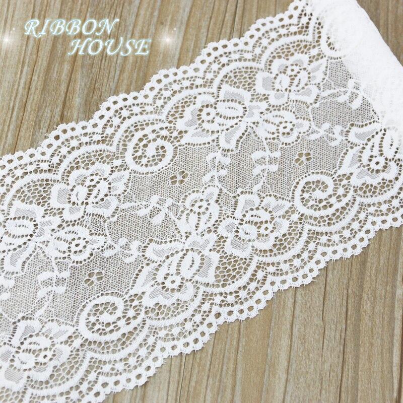 (3 метра) 15 см белый эластичный кружевной ткани полые нижнее белье стрейч кружевной отделкой DIY нижнее белье
