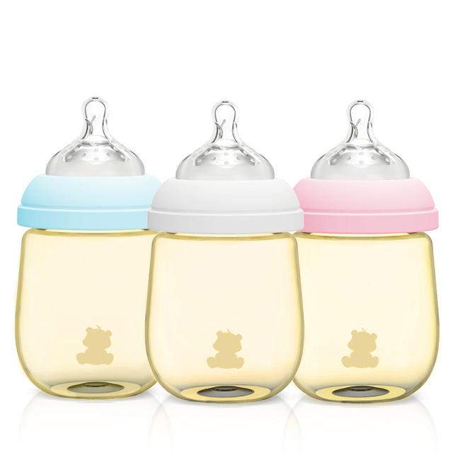 Bebé Leche Biberón Pezón Dispensador de Alimentos Frescos Mamadeira PPSU Botella De Agua Jugo De Bebé Taza de Consumición 60F039
