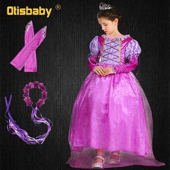 099731fa9430b89 Красивое платье принцессы Софии для девочек детская одежда для девочек  детские сетчатые Бальные платья Золушки для девочек в стиле Рапунце..