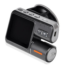 лучшая цена Dual Lens Camcorder i1000s Auto Car DVRs Dual Camera HD 1080P Dash Cam Black Box Driving Recorder With Parking Rear lens Cameras