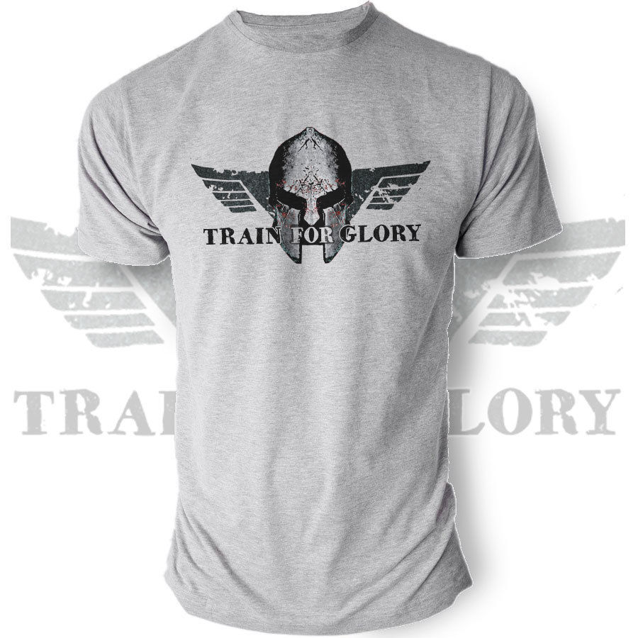 Clothing Casual Short Sleeve Summer Train for Glory Sparta Workout Fitness Crossfit Powerlifting   T  -  Shirt   Ideal Gift Tee   Shirt