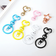 TaiHua high quality multi-color keychain paint key-ring a pack of 50 key finder love ring