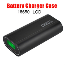 TOMO M2 18650 Lithium Battery Charger  3.7 V 18650 charging 2 Slots Smart charger  LCD display Power Bank ( NO Battery) original sigelei swallowtail 75a support charging of power on off and charging max current can reach 2 5a without 18650 battery