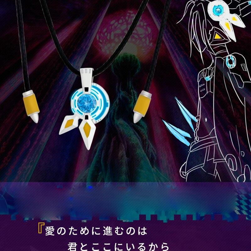 2019 pas de jeu pas de vie Shuvi Dora nuit-lumineux pendentif Unique collier Anime 925 en argent Sterling Cosplay bijoux femmes hommes cadeau