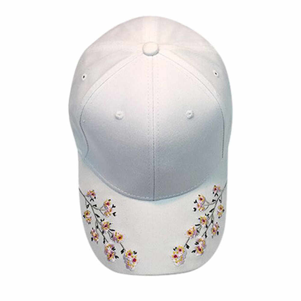 CHAMSGEND Women Sunhat Embroidery Cotton Baseball Cap Snapback Caps Hip Hop Hats For Women Hat Summer Women