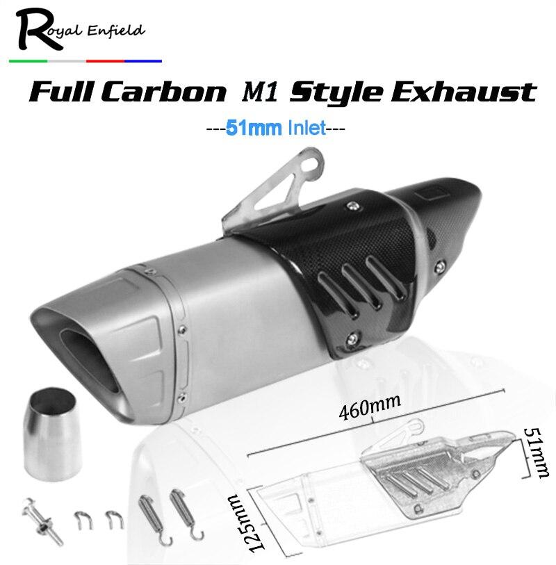 Универсальный 36 51 мм мотоцикл выхлопной трубы Escape изменение мотоцикл Лазерная глушитель углеродного волокна тепловой защиты Обложка для