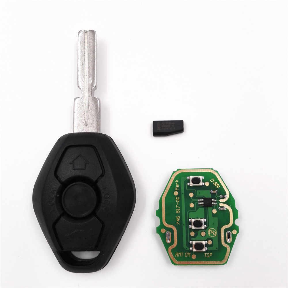 3ボタン433 mhz/315 mhzリモートキー用bmw x3 x5 e38 e39 e46 4トラックewsシステムで包茎hu58ブレードpcf7935/id44チップ