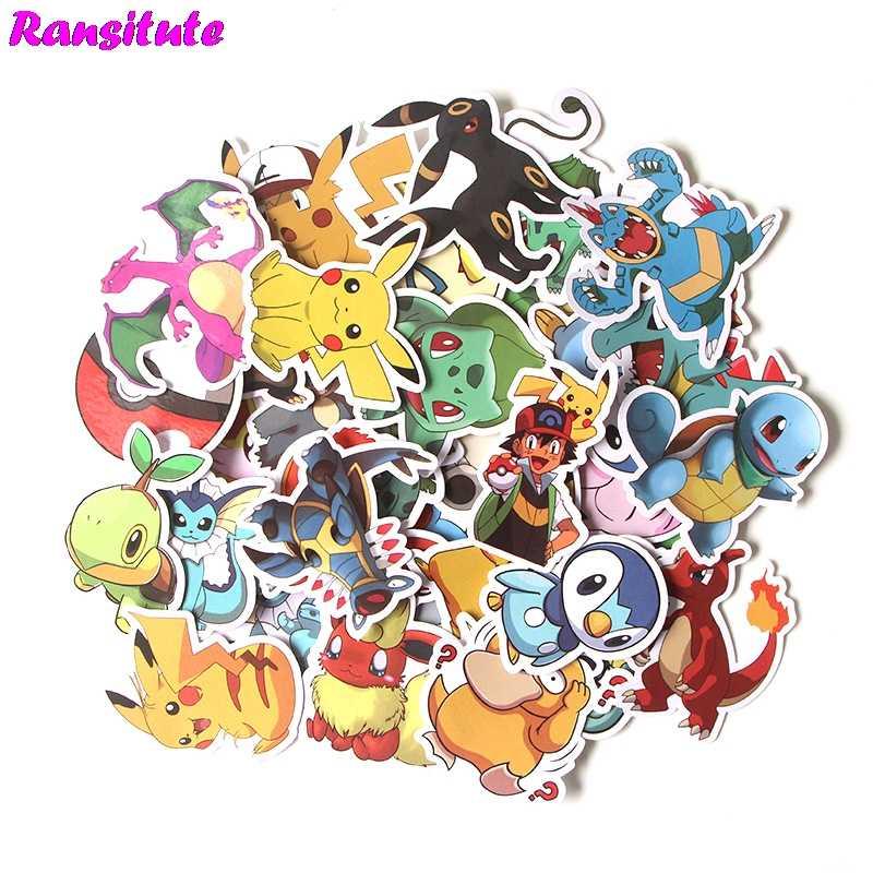 37 cái/bộ Pokemon Anime Hoạt Hình Dán DIY Hành Lý Laptop Ván Trượt Ô Tô Xe Máy Xe Đạp Miếng Dán R393