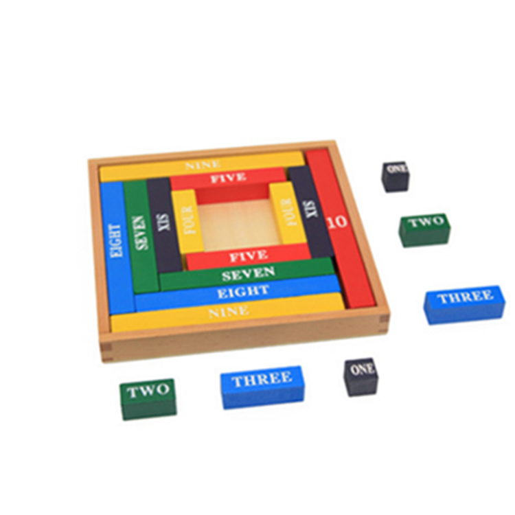 Montessori children 39 s color decimal bar kindergarten early wooden education math toy in Math Toys from Toys amp Hobbies