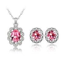 Btime atacado cristal austríaco colar brincos conjuntos de jóias mulheres charme flor do sol africano prata cristais de swarovski